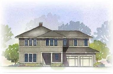 3-Bedroom, 2728 Sq Ft European Home Plan - 168-1058 - Main Exterior