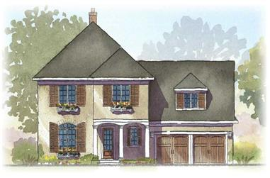 3-Bedroom, 2728 Sq Ft Country Home Plan - 168-1059 - Main Exterior