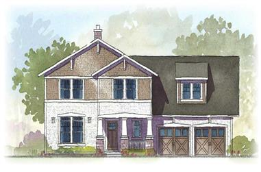 3-Bedroom, 2728 Sq Ft Country House Plan - 168-1061 - Front Exterior