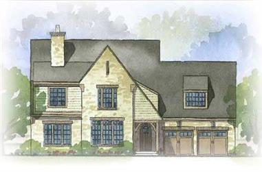 3-Bedroom, 3185 Sq Ft Craftsman House Plan - 168-1062 - Front Exterior