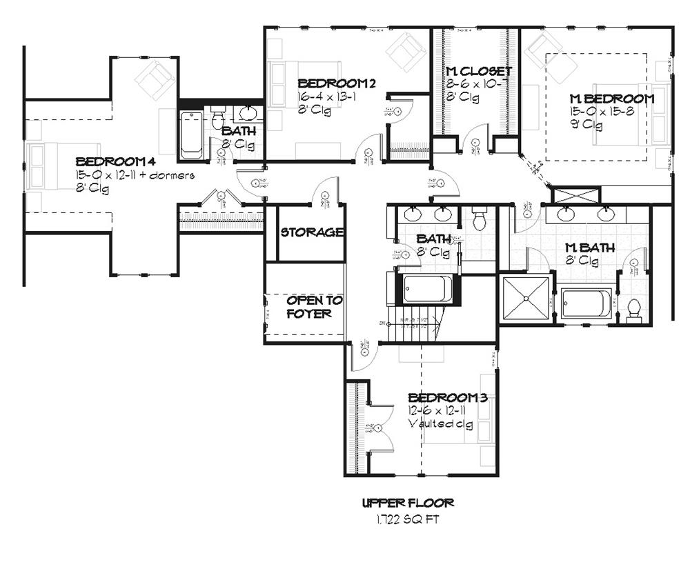 168-1063 house plan second floor