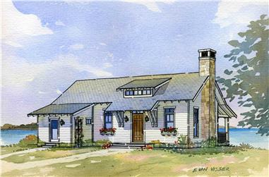 3-Bedroom, 2238 Sq Ft Country Home Plan - 168-1064 - Main Exterior