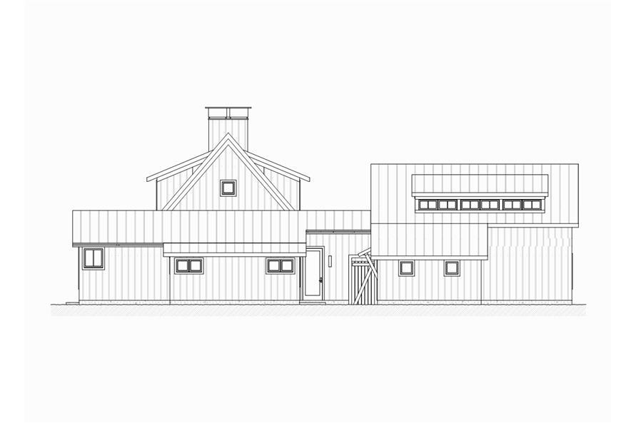 189-1065: Home Plan Left Elevation