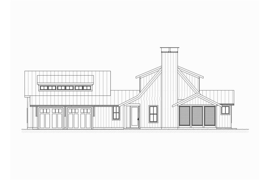 189-1065: Home Plan Right Elevation
