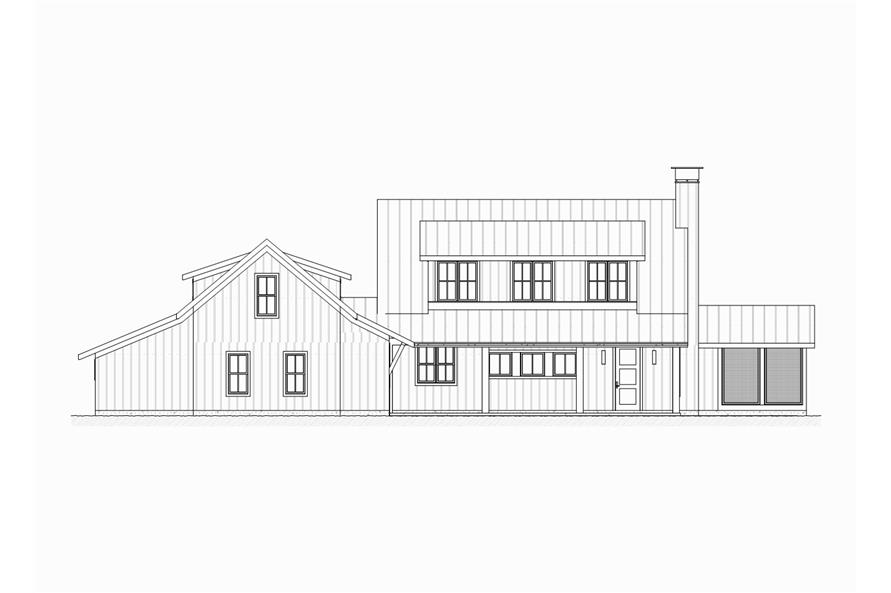 189-1065: Home Plan Front Elevation