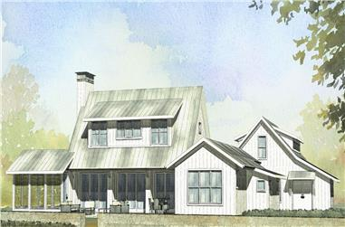 3-Bedroom, 2218 Sq Ft Farmhouse House Plan - 168-1065 - Front Exterior