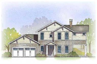 3-Bedroom, 2412 Sq Ft Craftsman House Plan - 168-1067 - Front Exterior