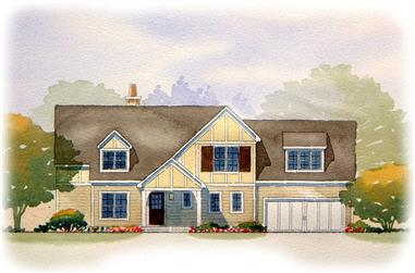 2-Bedroom, 2571 Sq Ft European Home Plan - 168-1068 - Main Exterior
