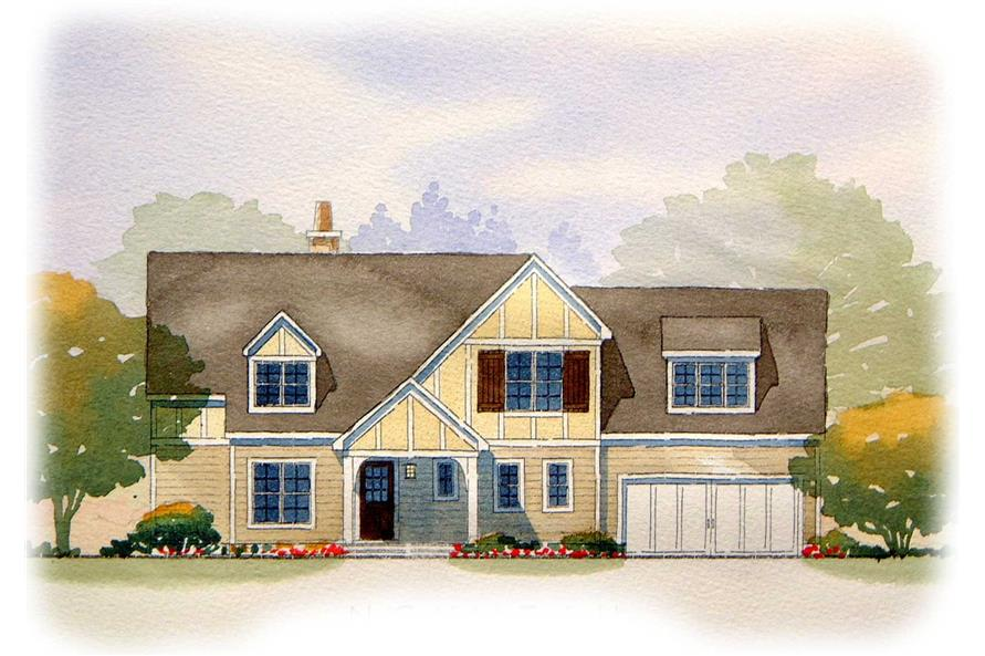 This is an artist's rendering for these Traditional Homeplans.