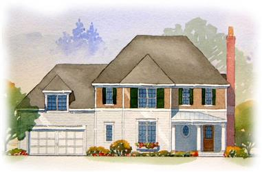 3-Bedroom, 2122 Sq Ft European Home Plan - 168-1070 - Main Exterior