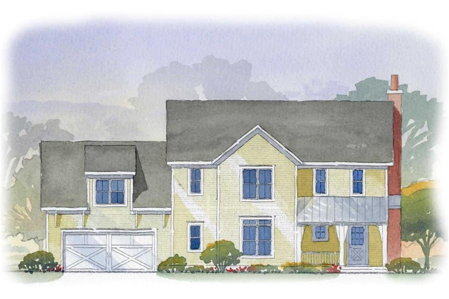 This is a front elevation of these traditional houseplans.
