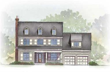 3-Bedroom, 2758 Sq Ft Colonial Home Plan - 168-1072 - Main Exterior