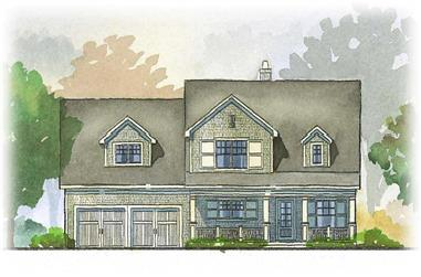 4-Bedroom, 3148 Sq Ft Country Home Plan - 168-1073 - Main Exterior