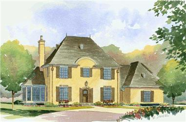 4-Bedroom, 3623 Sq Ft European Home Plan - 168-1075 - Main Exterior