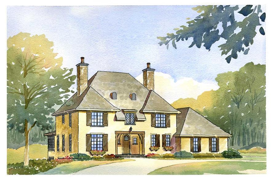 4-Bedroom, 2938 Sq Ft Country House Plan - 168-1077 - Front Exterior