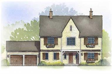 4-Bedroom, 2810 Sq Ft Country Home Plan - 168-1079 - Main Exterior