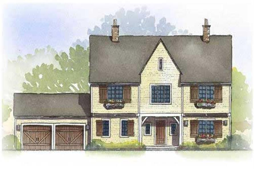 This image shows the Traditional Style of these Country Homeplans.