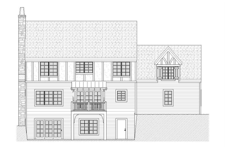 Home Plan Rear Elevation of this 3-Bedroom,2122 Sq Ft Plan -168-1081