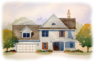 4-Bedroom, 1920 Sq Ft Country House Plan - 168-1083 - Front Exterior
