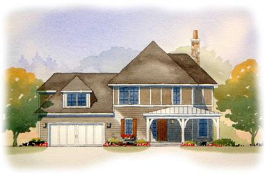 3-Bedroom, 1923 Sq Ft Country House Plan - 168-1084 - Front Exterior
