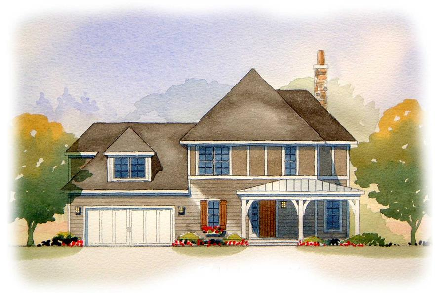 This image is an artist's rendering of these European Home Plans
