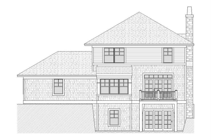 Home Plan Rear Elevation of this 3-Bedroom,1810 Sq Ft Plan -168-1086