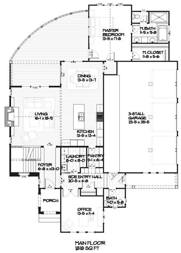 House plans home design 168 1088 for Ada home floor plans