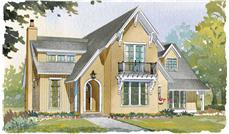 This is a colored rendering of these Home Plans.