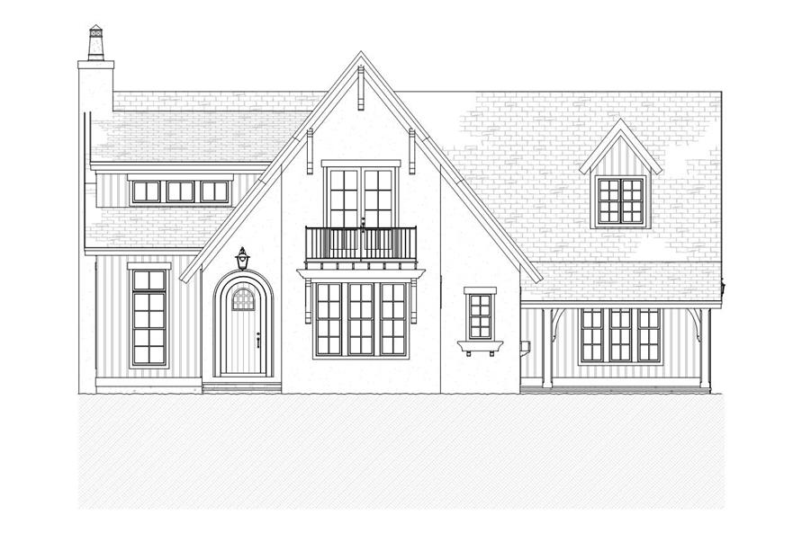 Home Plan Front Elevation of this 4-Bedroom,3086 Sq Ft Plan -168-1088