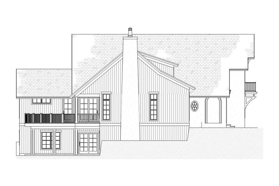 Home Plan Left Elevation of this 4-Bedroom,3086 Sq Ft Plan -168-1088