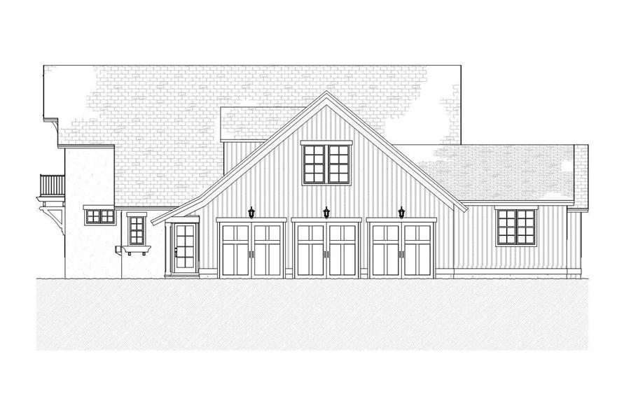 Home Plan Right Elevation of this 4-Bedroom,3086 Sq Ft Plan -168-1088