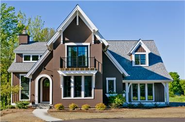 4-Bedroom, 3086 Sq Ft Transitional Home Plan - 168-1088 - Main Exterior