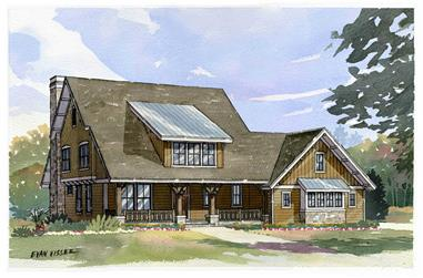 4-Bedroom, 2968 Sq Ft Country Home Plan - 168-1089 - Main Exterior