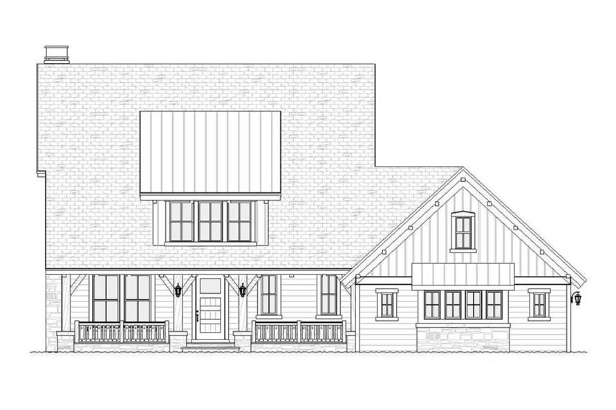 Home Plan Front Elevation of this 4-Bedroom,2968 Sq Ft Plan -168-1089