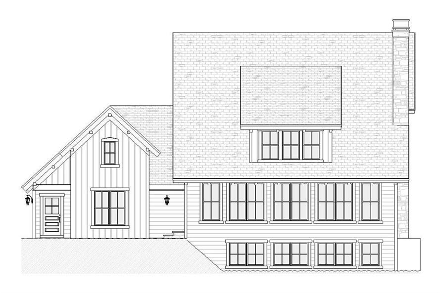168-1089: Home Plan Rear Elevation
