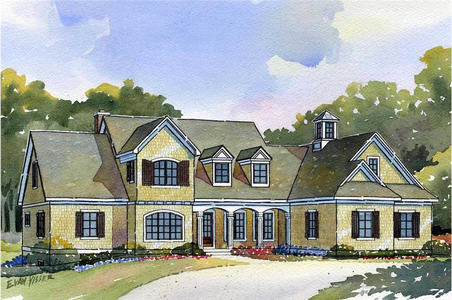 Cape Cod home plan (ThePlanCollection: House Plan #168-1090)