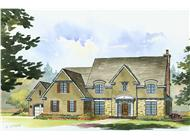 This is a colorful rendering of these Luxurious Country House Plans.