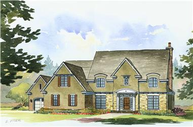 4-Bedroom, 3790 Sq Ft Country House Plan - 168-1092 - Front Exterior