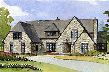 4-Bedroom, 4635 Sq Ft Country House Plan - 168-1093 - Front Exterior