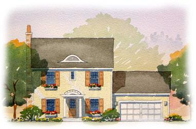 3-Bedroom, 1810 Sq Ft Colonial Home Plan - 168-1094 - Main Exterior