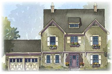 4-Bedroom, 2483 Sq Ft Craftsman House Plan - 168-1096 - Front Exterior