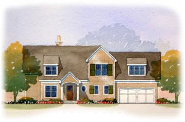 2-Bedroom, 2571 Sq Ft Country Home Plan - 168-1097 - Main Exterior