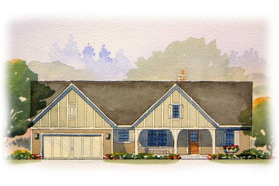 5-Bedroom, 2657 Sq Ft Country Home Plan - 168-1098 - Main Exterior