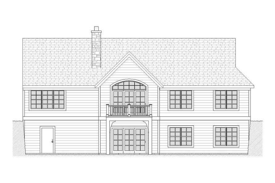Home Plan Rear Elevation of this 5-Bedroom,2657 Sq Ft Plan -168-1098