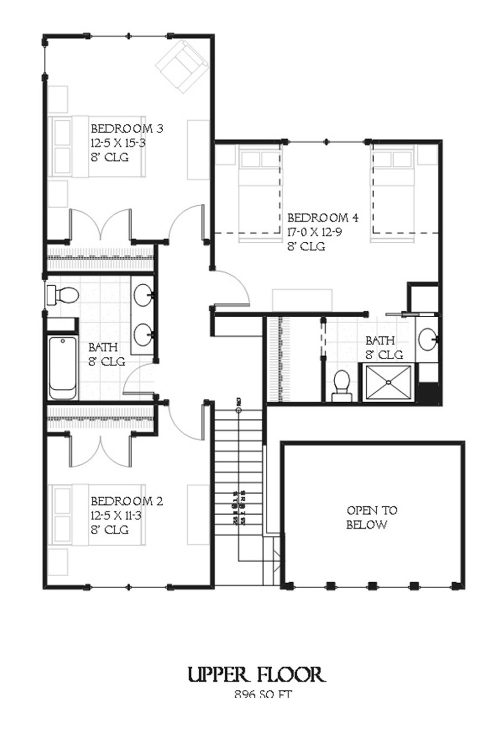 168-1099 house plan second story