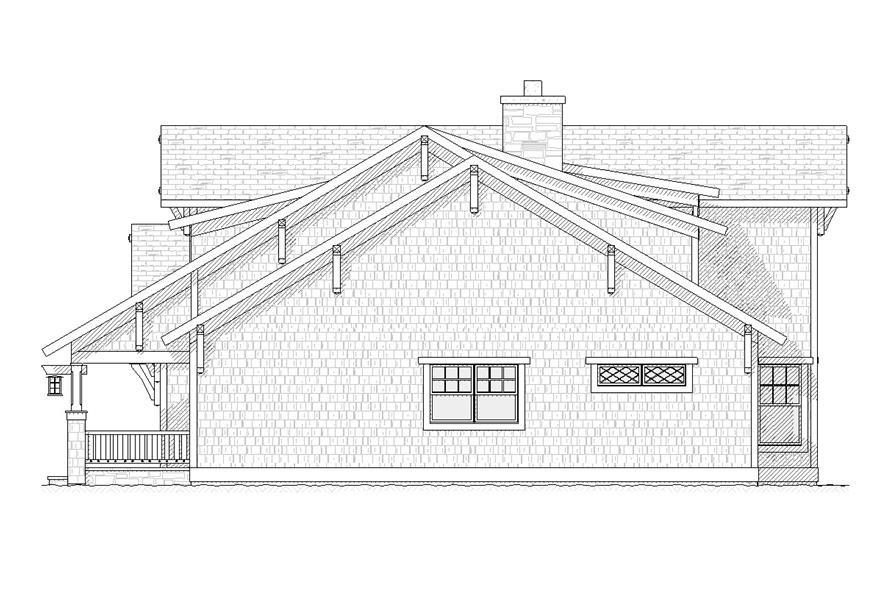 Home Plan Right Elevation of this 4-Bedroom,2609 Sq Ft Plan -168-1099