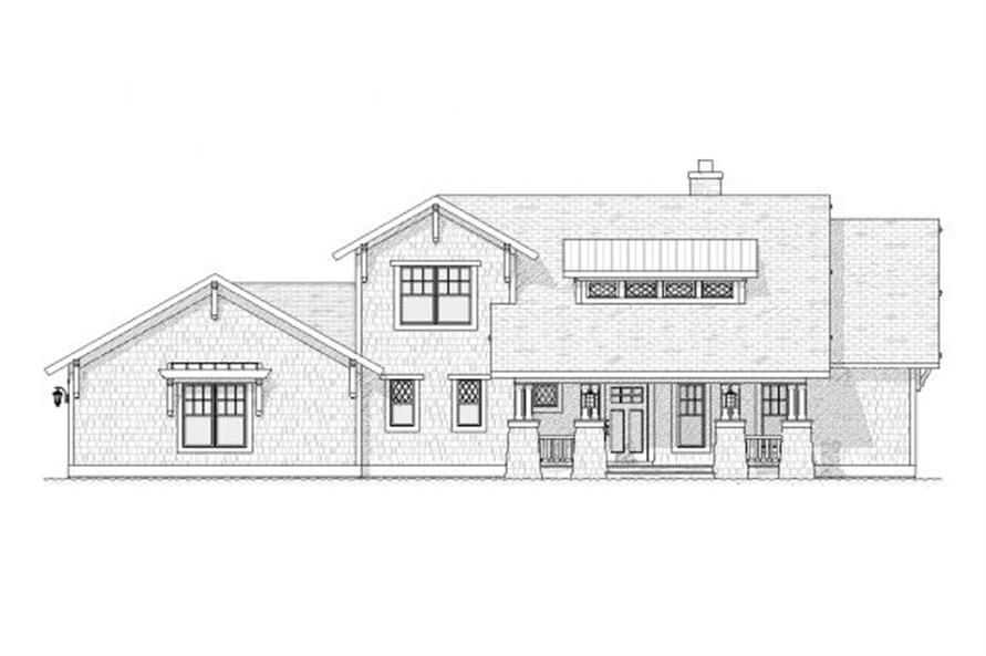 Home Plan Front Elevation of this 4-Bedroom,2609 Sq Ft Plan -168-1099