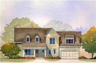 2-Bedroom, 2571 Sq Ft Cape Cod Home Plan - 168-1100 - Main Exterior