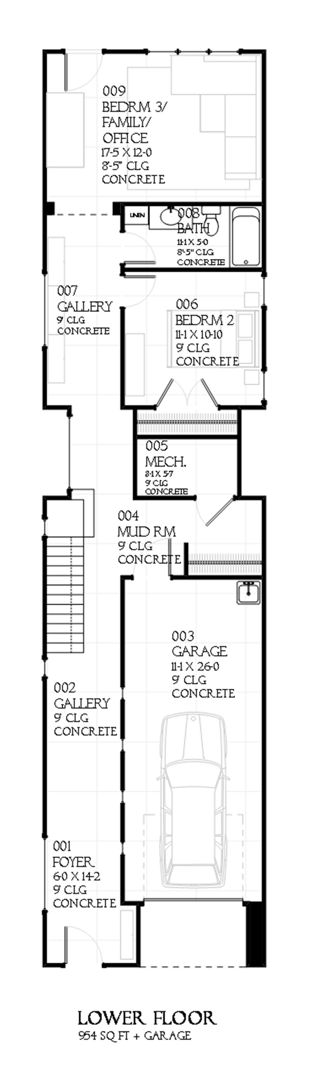 168-1102 house plan lower level