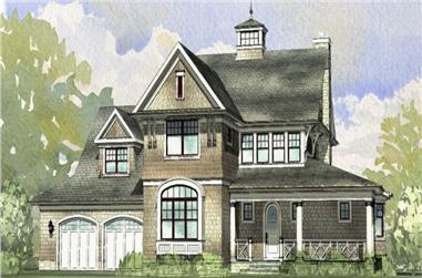 4-Bedroom, 3536 Sq Ft Craftsman House Plan - 168-1103 - Front Exterior